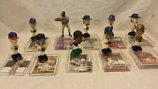 Mini BOBBLE HEAD Figures Baseball With Cards Lot of 10