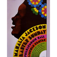 ADVERT CULTURAL CONCERT MUSIC MAHALIA JACKSON EASTER ART PRINT POSTER 30X40 CM 1