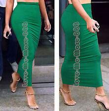 Women's Stretch Tight Fit body Casual Club PENCIL Tube Maxi Skirts Dress MEDIUM