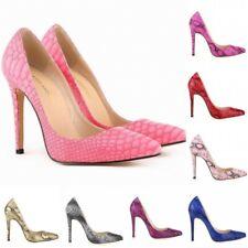 Fashin Womens Snake Leopard Print Pointed Toe High Heel Stiletto Pump Shoes NEW
