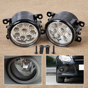9LED Round Front Fog Lamp DRL Daytime Running Light fit for Ford Focus Honda