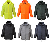 Mens Portwest Classic Rain Jacket Waterproof Coat | S440