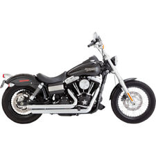 Vance & Hines Chrome Big Shots Staggered Exhaust for 2006-2017 Harley Dyna