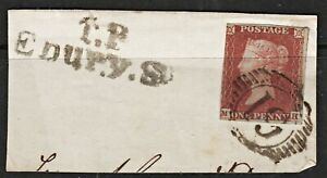 2005 SG8 1d Red on Piece. 3 Margins. Town Postmark. Fine Used. c£30+