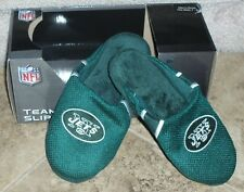 NEW mens FOREVER COLLECTIBLES indoor/outdoor NY JETS slip-on SLIPPERS sz 7/