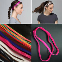 FP- Women Girl Double Band Anti-Slip Sports Yoga Elastic Headband Hairband
