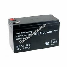 Powery Ersatzakku für USV APC Back-UPS 650 12V 7,2Ah/86Wh Lead-Acid Schwarz
