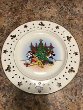 Lenox Disney Mickey Mouse 1997 Collector Plate Trimming Christmas tree Minnie
