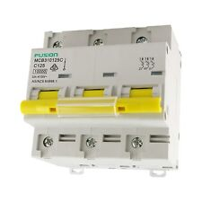 Connected Switchgear Mini Circuit Breaker C Curve 3 Pole 10kA 100A & 80A Fusion