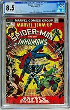MARVEL TEAM-UP #11 (1973) KEY SPIDER-MAN INHUMANS AVENGERS KANG CGC 8.5 VF+