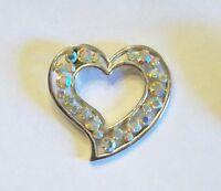 Vintage Aurora Borealis Heart Pendant
