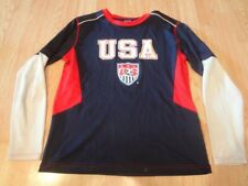 Youth Team USA L Athletic LS T-Shirt Tee Polyester