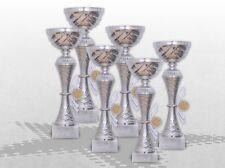 6er Pokalserie Pokale Skylon mit Gravur und Emblem günstig kaufen Pokale silber