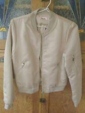 ASOS Boohoo Kzell women's beige bomber jacket new size M