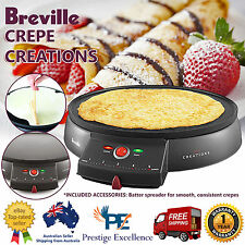 Crepe Maker Electric Pancake Snack Non Stick Hot Plate Breakfast Makers Breville