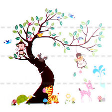 Animals Tree Monkey Owl Removable Wall Decal Sticker Kid Baby Nursery Decor New