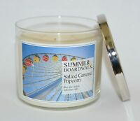 BATH & BODY WORKS SUMMER BOARDWALK SCENTED CANDLE 3 WICK 14.5OZ LARGE POPCORN