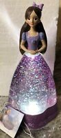 "Nutcracker Clara Lighted Water Christmas Snow Globe Swirling 10"" Disney Princess"
