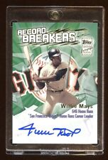 2003 TOPPS WILLIE MAYS ONCARD AUTOGRAPH AUTO SP *RECORD BREAKERS*  RARE FIND HOF