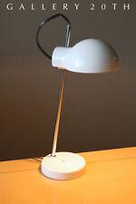 Lightolier! Designer Mid Century Modernist Desk Lamp! White Saucer Atomic Vtg 60