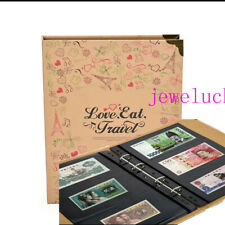 300 Pockets 50 Pages Black Ground Double Sided Album Banknotes Bills Collections