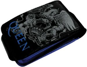 QUEEN Band Crest Logo MP3 Player Case Black Leather Rock Official Merchandise