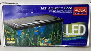 Aqua Culture 20 Gallon Fish Tank Hood with LED Light