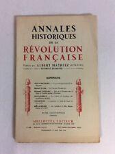 Annales Historiques De La Revolution Francaise Sep-Oct 1933 (PB)- Fair