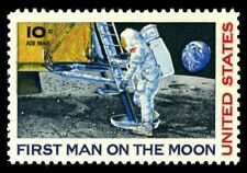 Apollo 11 First Man On The Moon Stamp: 10 Cent: 1969: Mint, Never Hinged
