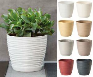 Plant pot cover round 3D  indoor outdoor succulent plastic drainage holes saucer