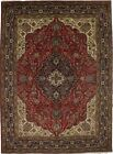 Floral Classic Design Hand Knotted 8'4X11'5 Red Oriental Rug Home Decor Carpet