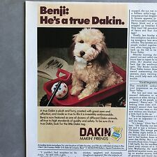 1979 Dakin Benji Plush Dog Vintage Photo Print Magazine Ad
