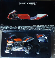 MINICHAMPS NEIL HODGSON DUCATI 996 RS SBK 2001 1:12 VERY RARE !!