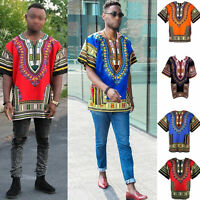 Men Women Unisex  African Festival Hippie Dashiki Kaftan Shirt Loose Top