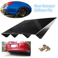 "Universal 22""x 19.3""ABS Rear Bumper Lip 4Fins Diffuser Under Rear bumper Screws"