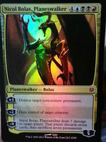 1x FOIL NICOL BOLAS, PLANESWALKER - Duel Deck - MTG - NM Magic the Gathering