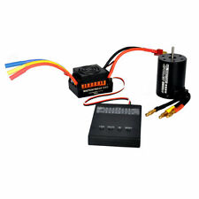 Program Card + 3650 3900KV Brushless Motor + ESC Combo Set For 1/10 RC Car Truck