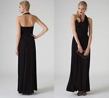 MONSOON Black Lindsey Jersey Halterneck Lace Combined Maxi Dress UK10  EU38 £139