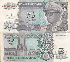 ZAIRE,1993,5, ZAIRES,CIRCULATED,,(1)