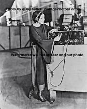 Old Antique Vintage Sexy Beautiful Actress Nita Naldi Listens to Radio Photo