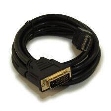 6ft DisplayPort to DVI Cable 30AWG Gold Plated  Black