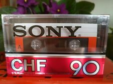 SONY CHF 90 metalized version audio cassette blank tape very rare!!!