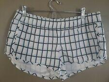 Women's Hurley Board Shorts Size Large Pocket White Black Blue