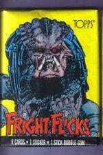 1988 TOPPS FRIGHT FLICKS Wax Pack w/ Predator Wrapper Variation