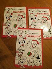 3 CHRISTMAS DALMATIONS  Hallmark Christmas Cards Grandma