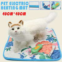 Electric Pet Heating Mat Blanket Heated Cat Dog Heater Pad Bed Winte