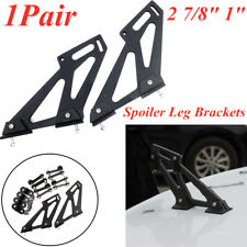 1 Pair Black Rear Wing Trunk Spoiler Legs Brackets Mount Side Plates