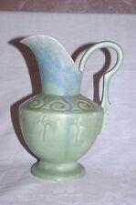 "Beswick Trentham Art Pottery Art Deco Blue Green Mottled 9"" Jug Vase Shape 555"