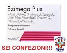 EZIMEGA PLUS 20 CAPSULE INTEGRATORE OMEGA 3 MONACOLINA SEI CONFEZIONI!!!
