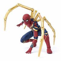 Marvel Iron Spider-Man Hero Action Figure Avengers Infinity War Toy Model